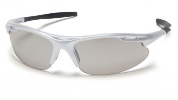 Pyramex  Avante  Silver Frame/Indoor/Outdoor Mirror Lens  Safety Glasses  12/BX