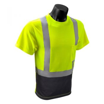 Radians Radwear ST11B Type R Class 2 High Visibility T-Shirt with Max-Dri Moisture Wicking Mesh Green Color - 1 EA
