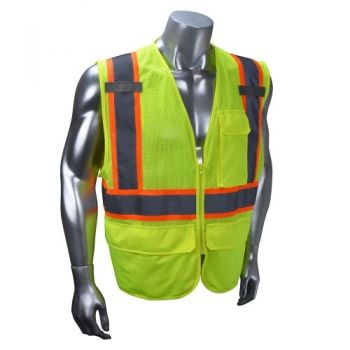 Radians SV272 Safety Vest Class 2 Multipurpose Surveyor Mesh with Zipper (1 EA)