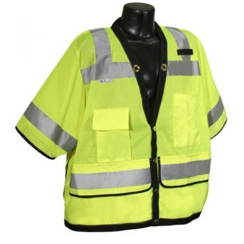 Radians SV59-3 Safety Vest - Class 3 - Surveyor - Heavy Duty Mesh 3XL Green (1 EA)