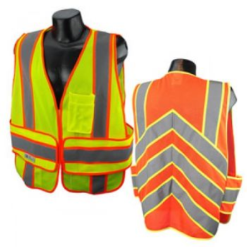 Radians Radwear SV23C Class 2 Expandable Two Tone Safety Vest with Chevron Back - 1 Each
