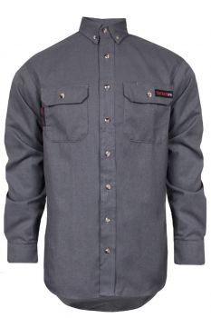 NSA TCG01150 TECGEN SELECT FR Work Shirt  Grey