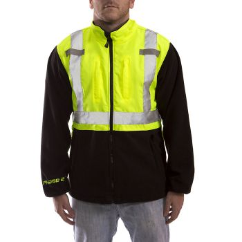 Tingley PHASE 2 Jacket | Fluorescent Yellow-Green-Charcoal Gray Silver Reflective Tape