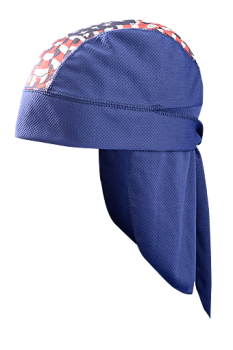 CoolCore TD201 Skull Cap with Neck Shade Blue/Flag (6 PK)