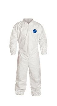 DuPont™ Tyvek TY125S White Coveralls - Vend Pack - Elastic Wrists and Ankles Serged Seams (Case of 25)