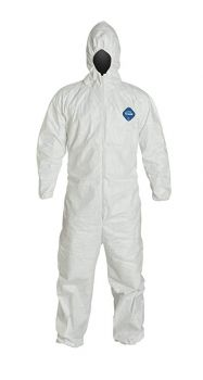 DuPont™ Tyvek® TY127S -White Coveralls - Respirator Fit Hood- Vend Pack 25/Case