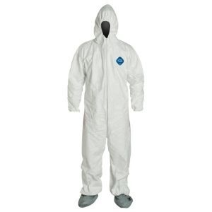 DuPont™ Tyvek® 400 TY122S WH G1 Hooded Coveralls 6/Case