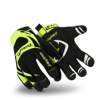 HexArmor Hex1 2120 Work Gloves Hi Vis Black Color - 1 Pair