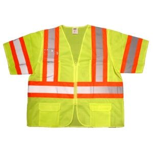 Cordova Safety Vest V3201 Cor-Brite Type R, Class 3 Vest Lime/Yellow