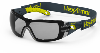 """HexArmor MX200G Dual Action Anti-Fog Scratch Resistant  Safety Glasses TruShieldâ""""¢S Gray Lens Gray Color - 12 / Box"""