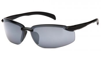 Venture Gear  Waverton  Black Frame/Silver Mirror Lens  Safety Glasses  1 / EA