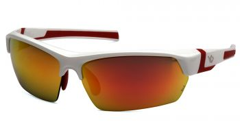 Venture Gear Tensaw White Frame/ Sky Red Mirror Polarized Lens Safety Glasses 1 / EA