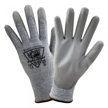 PIP West Chester 713DGU Barracuda Seamless Knit HPPE Blended Glove with Polyurethane Coated Flat Grip, 1 Dozen
