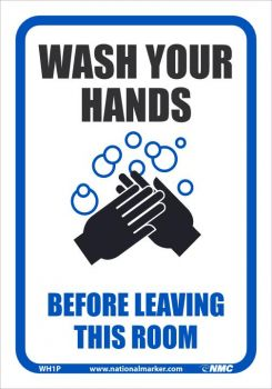 NMC WH1PB Wash Your Hands Before Leaving This Room