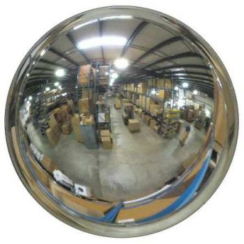"""Domes and Mirrors by Se-Kure SCVI-24T-5DP 24"""" Indoor Wide View Convex Mirror 5"""" Deep"""