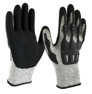 Armor Guys Excel Glove Gray  Impact Protection Back  12 Pairs