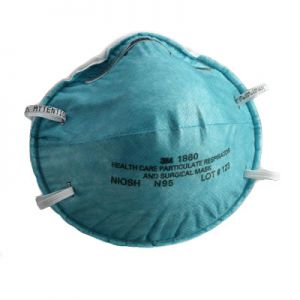 3M 1860 N95 Health Care Particulate Respirator and Surgical Mask, Box of 20