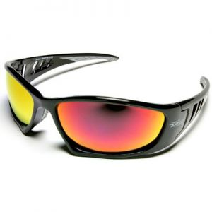 Edge Baretti Safety Glasses - Aqua Precision Red Mirror Lens