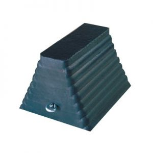 Checkers Heavy Truck and Construction Rubber Wheel Chock