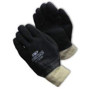 Sandy Finish PVC Coated Knitwrist Gloves