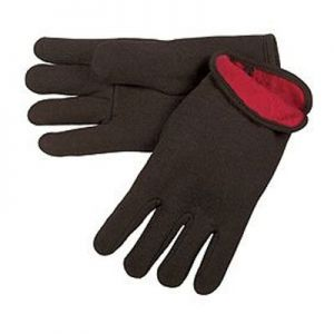 MCR WInter Brown Jersey Gloves with Red Lining 12 Pairs