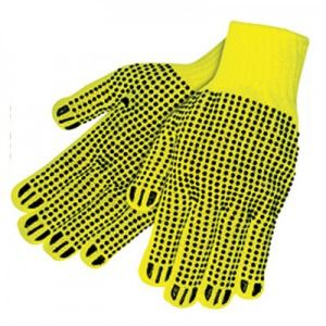 PVC High Visibility Dotted String Glove