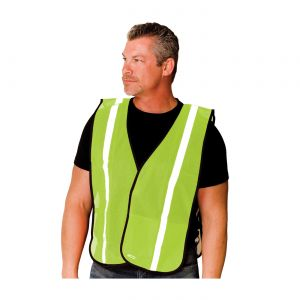 PIP Vests Polyester Non Ansi One Pocket Mesh Safety Vest Hook and Loop closure One Size  50 / Box