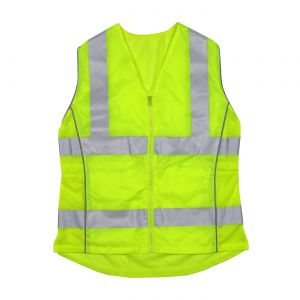 PIP 302-0312 ANSI Type R Class 2 Woman's Contoured Vest with Solid Front, Mesh Back and Adjustable Waist