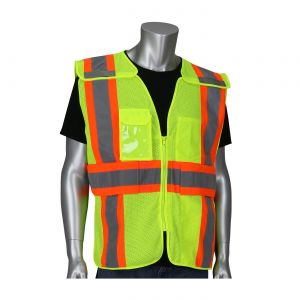 PIP 302-0590 ANSI Type R Class 2 Expandable Two-Tone Mesh Breakaway Vest