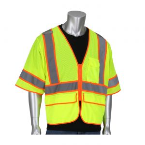 PIP 305-SVZSE ANSI Type R Class 3 Self Extinguishing Two-Tone Mesh Surveyors Vest