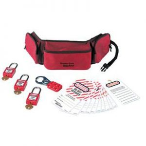 Personal Lockout Pouch with Padlocks and Tags