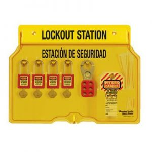 Masterlock English/Spanish Padlock Station - 4-Lock Station