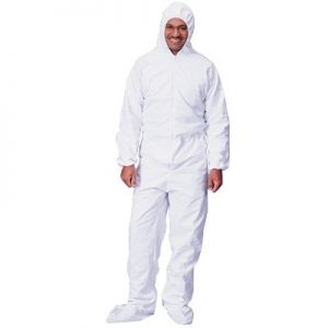 Lakeland Pyrolon Plus 2 Disposable Coveralls  Attached Hood Boots and Elastic Wrists 25/Case