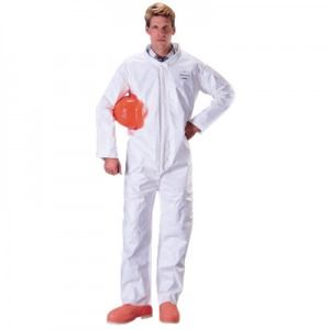 Dupont Tychem SL120B  Coveralls - Bound Seams Color White 12/Case