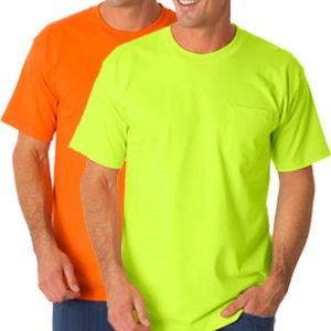 Safety T-Shirts with Pocket - 50/50 Poly-Cotton Blend