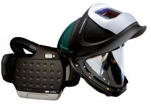 3M™ Adflo™ PAPR with 3M™ Hard Hat L-705SG, 34-0705-SGV, Li Ion Battery, Welding Shield, Wideview Faceshield, ADF 9100V