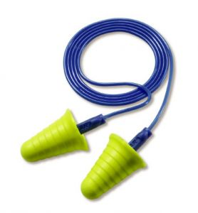 3M™ E-A-R™ Push-Ins™ with Grip Rings Corded Earplugs 318-1009, in Poly Bag (1 Box)