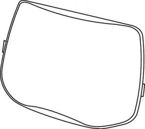 3M™ Speedglas™ Outside Protection Plate 9100 06-0200-52, Scratch Resistant 10 EA/Case
