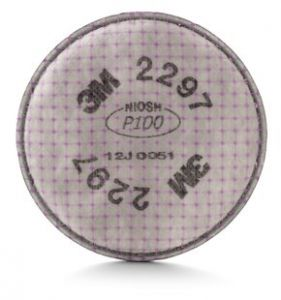 3M 2297 P100 Advanced Particulate Filter with Nuisance Level Organic Vapor Relief, 1 Pair