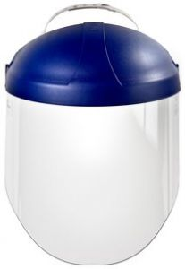 3M™ Ratchet Headgear H8A, 82783-00000, with 3M™ Clear Polycarbonate Faceshield WP96