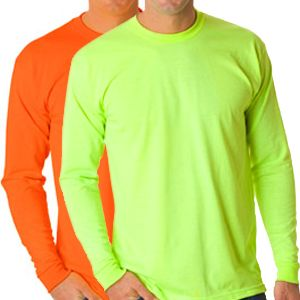 Safety Long Sleeve T-Shirt - 50/50 Poly-Cotton Blend