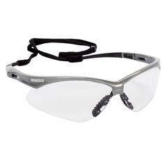 Jackson Safety Nemesis Safety Glasses, Clear Anti-Fog Lenses with Silver Frame, 12/Box