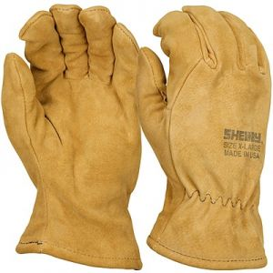 Shelby Tan Pigskin, Gauntlet, CAL-OSHA Structural Fire Gloves