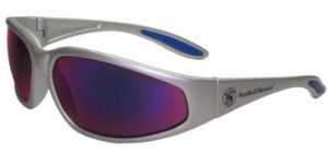 Jackson Safety Smith and Wesson 38 Special Safety Glasses with Chrome Frame and Blue Mirror Lens 12 Pairs