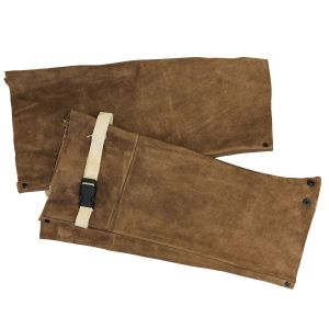 """CPA 18"""" Leather Welding Safety Sleeve Brown 1/EA"""