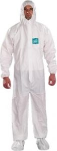 Ansell MicroChem® by AlphaTec® 1800 WH18-B-92-107 Model 107 Coveralls 25/Case