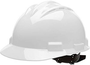 Bullard White Vented HDPE Cap Style Hard Hat 4 Point Rachet Suspension | 62WHR