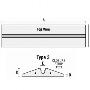 Cross-Over Cable Protector Type 3 Closure Strip