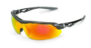 Radians Crossfire CIRRUS Red Mirror Lens and Shiny Black Frame - 12 / Box