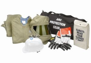 Chicago Protective Apparel 74 CAL Jacket & Bib Arc Flash Clothing Kit - PPE Category 4